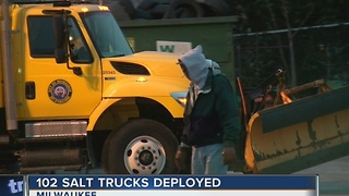 DPW deploys snow plows in Milwaukee