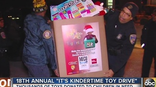 Thousands of toys donating during 18th annual It's Kindertime Toy Drive - Video