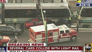 Air15 live over accident near 16th and Washington streets - Video