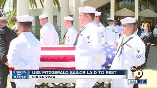 Father breaks down as USS FItzgerald sailor is laid to rest - Video