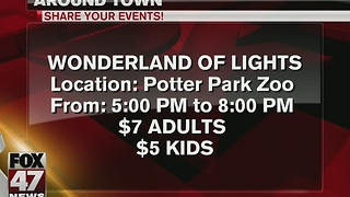 Around Town 12/22/16: Wonderland of Lights at Potter Park Zoo - Video