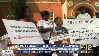 Organizers rally against hate crimes in Anne Arundel County - Video
