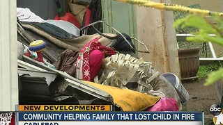 Community helping family that lost child in fire - Video