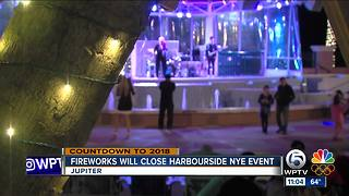 Harbourside has entertainment and fireworks - Video