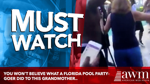 You Won't Believe What A Florida Pool Party-goer Did To This Innocent Grandmother..