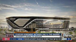 Authority board to discuss UNLV &  Raiders shared stadium deal - Video