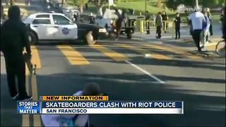 Skaters and police clash in the streets of San Francisco - Video