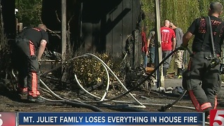 Family Of 8 Loses Everything In House Fire - Video