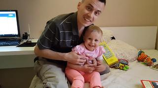 Two-Year-Old Laughs HYSTERICALLY When Tickled by Daddy !!! - Video