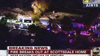 Crews battle deadly house fire in Scottsdale - Video