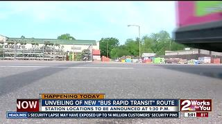 City of Tulsa will reveal new bus rapid transit route - Video
