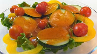 Betty's French dressing with summer salad