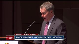 Indianapolis Mayor Joe Hogsett says he is 'accountable' for the deadly police shooting of Aaron Bailey - Video