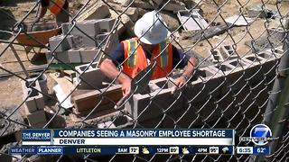 Masonry companies having hard time filling positions - Video