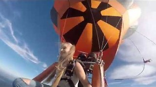 Russian Model Goes Skydiving With Selfie Stick - Video