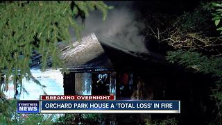 Orchard Park home catches fire on 4th of July - Video