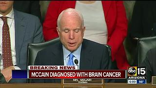 John McCain diagnosed with brain cancer - Video
