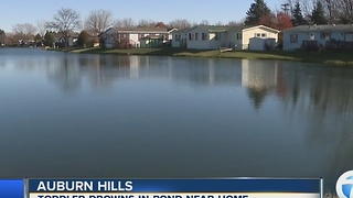 Toddler drowns in pond near home in Auburn Hills - Video