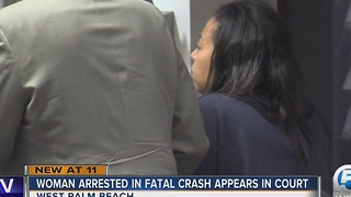 Suspect in Palm Beach County court after arrest in fatal DUI crash - Video