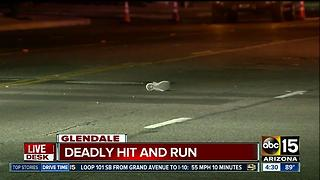Man dead after Glendale hit-and-run crash - Video