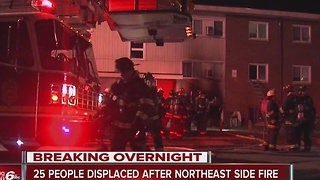 Fire broke out early Tuesday morning at an apartment complex on Indianapolis' northeast side - Video