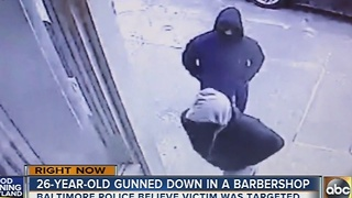 Man shot inside barbershop in east Baltimore - Video