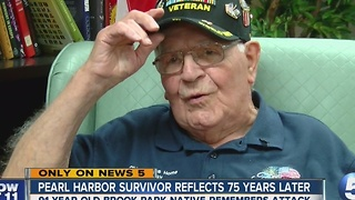 Pearl Harbor survivor looks back on the attack 75 years later
