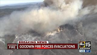 Goodwin fire burning 21,000 acres, weather conditions make fighting it extremely difficult - Video