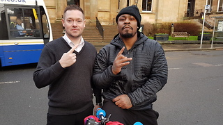 Marshawn 'Beast Mode' Lynch Plays Chicken With a Bus on Scottish High Street - Video