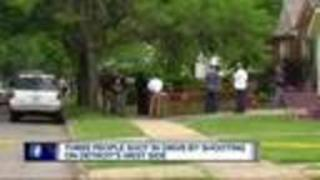 Three shot in drive-by on Detroit's west side. - Video