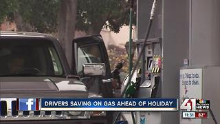 Drivers saving on gas ahead of Fourth of July - Video
