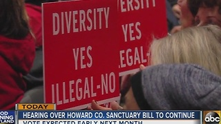 Hearing over Howard County sanctuary bill to continue - Video