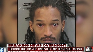 School bus driver arrested for Tennessee school bus crash that killed multiple children - Video