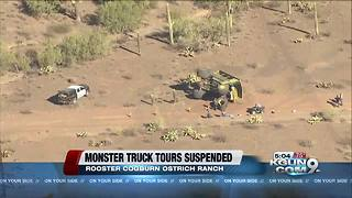 Ostrich ranch suspends monster truck tours