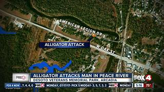Gator attacks DeSoto man - Video