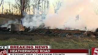 Arson Investigation Underway In Pleasant View - Video