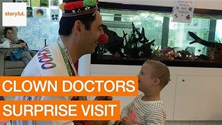 Clown Doctors Pay Children's Hospital a Surprise Visit - Video