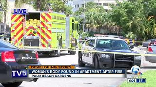 Body recovered in Palm Beach Gardens apartment fire Sunday morning - Video