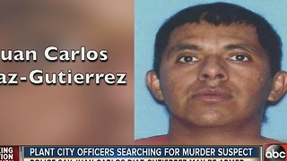 Plant City officers searching for murder suspect