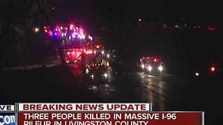 Fatal crash closes I-96 - Video