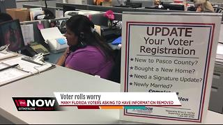 Florida voters asking to have info removed - Video