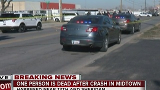 Tulsa Police on scene of midtown fatal crash - Video