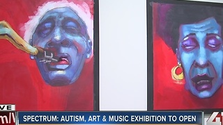 Spectrum: Autism, art & music exhibition to open - Video