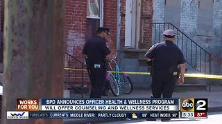 Baltimore Police Dpeartment to offer health and wellness program - Video
