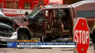 Ex-firefighter sentenced to 10 years for killing 2 in drunk driving crash - Video