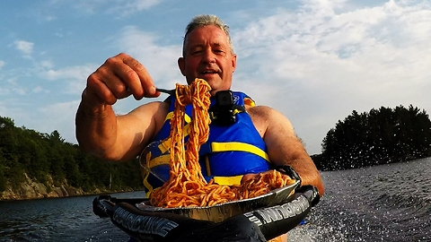 Italian Food Is Much Tastier When You Slurp It On A Wakeboard