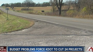 KDOT postpones 24 road projects - Video