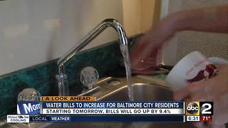 Water bills to increase for Baltimore City residents - Video