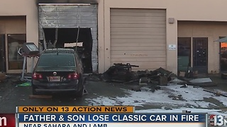 UPDATE: Fire destroys over a dozen classic cars, including father's gift to son - Video