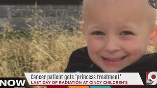 Four-year-old cancer patient gets 'princess treatment' - Video